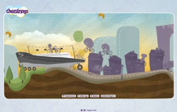 Screen shoot del sito www.cheestrings.co.uk/worldtourgame/